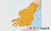 Political Map of Fu Xian, lighten