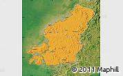 Political Map of Fu Xian, satellite outside