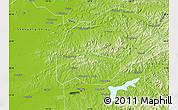 Physical Map of Fushun Shiqu