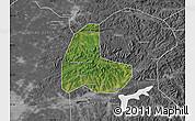 Satellite Map of Fushun Shiqu, desaturated