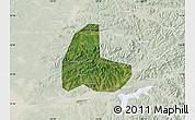 Satellite Map of Fushun Shiqu, lighten