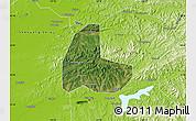 Satellite Map of Fushun Shiqu, physical outside