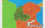 Satellite Map of Fushun Shiqu, political outside