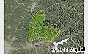 Satellite Map of Fushun Shiqu, semi-desaturated