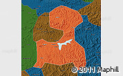 Political Map of Fushun, darken