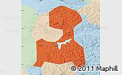 Political Map of Fushun, lighten