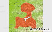 Political Map of Fushun, physical outside