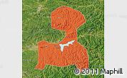 Political Map of Fushun, satellite outside