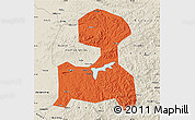 Political Map of Fushun, shaded relief outside