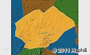Political Map of Fuxin Mongolian Ac, darken