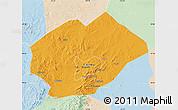 Political Map of Fuxin Mongolian Ac, lighten