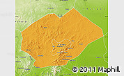 Political Map of Fuxin Mongolian Ac, physical outside