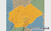 Political Map of Fuxin Mongolian Ac, semi-desaturated