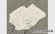 Shaded Relief Map of Fuxin Mongolian Ac, darken