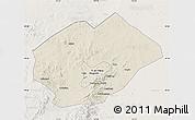 Shaded Relief Map of Fuxin Mongolian Ac, lighten