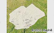 Shaded Relief Map of Fuxin Mongolian Ac, satellite outside