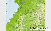 Physical Map of Gai Xian
