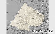 Shaded Relief Map of Gai Xian, darken, desaturated