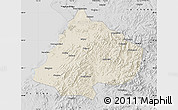 Shaded Relief Map of Gai Xian, desaturated
