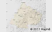 Shaded Relief Map of Gai Xian, lighten, desaturated