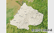 Shaded Relief Map of Gai Xian, satellite outside