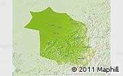 Physical 3D Map of Haicheng, lighten