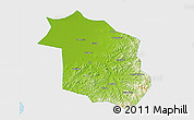 Physical 3D Map of Haicheng, single color outside