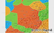 Political 3D Map of Haicheng