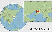 Savanna Style Location Map of Haicheng