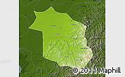 Physical Map of Haicheng, darken
