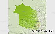 Physical Map of Haicheng, lighten