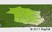Physical Panoramic Map of Haicheng, darken
