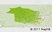 Physical Panoramic Map of Haicheng, lighten