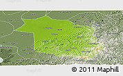 Physical Panoramic Map of Haicheng, semi-desaturated