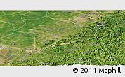Satellite Panoramic Map of Haicheng