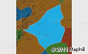 Political Map of Heishan, darken