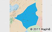 Political Map of Heishan, lighten