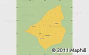 Savanna Style Map of Heishan, single color outside