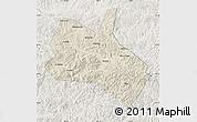 Shaded Relief Map of Huanren, lighten