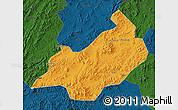 Political Map of Jianchang, darken
