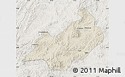 Shaded Relief Map of Jianchang, lighten