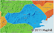 Political 3D Map of Jinxi