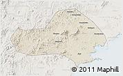 Shaded Relief 3D Map of Jinxi, lighten