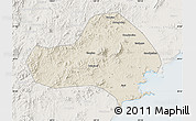 Shaded Relief Map of Jinxi, lighten