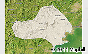 Shaded Relief Map of Jinxi, satellite outside