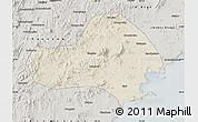 Shaded Relief Map of Jinxi, semi-desaturated