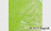 Physical Map of Kaiyuan