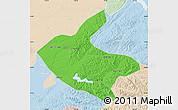 Political Map of Kaiyuan, lighten