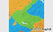 Political Map of Kaiyuan