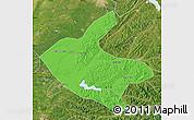 Political Map of Kaiyuan, satellite outside